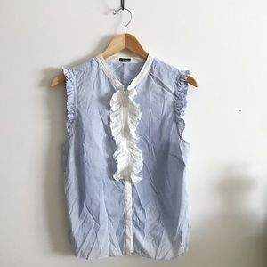 J Crew ruffle tank blouse